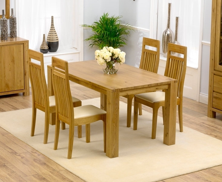 Home With Oak Dining Table And Chairs – Home Decor Ideas With Regard To Oak Dining Tables And 4 Chairs (Image 18 of 25)