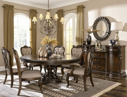 Homelegance Bonaventure Park Cherry Extendable Dining Room Set Regarding Bale Rustic Grey Dining Tables (View 15 of 25)