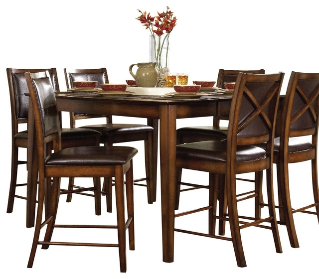 Homelegance Verona Counter Height Table In Dark Oak - Transitional with Verona Dining Tables