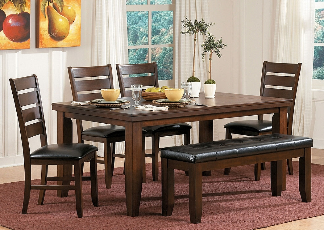 Homelife Furniture & Accessories Ameillia Rectangular Dining Table W For Craftsman 7 Piece Rectangle Extension Dining Sets With Side Chairs (Image 16 of 25)