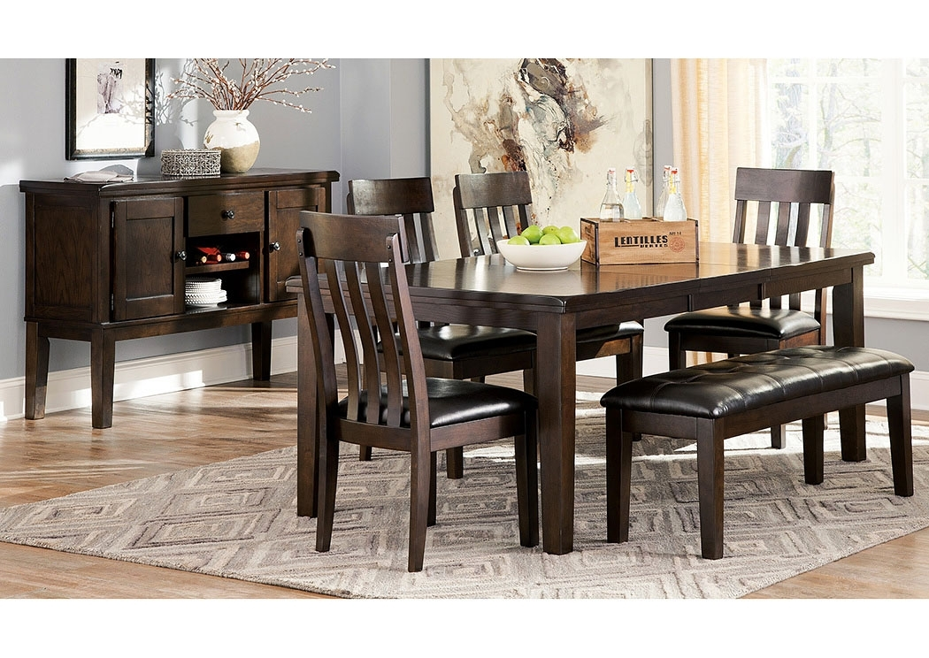 Homestead Furniture Haddigan Dark Brown Rectangle Dining Room Inside Rectangular Dining Tables Sets (Image 17 of 25)