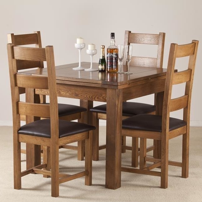 Homestead Living Rayleigh Extendable Dining Table And 4 Chairs Within Extendable Dining Table And 4 Chairs (Image 12 of 25)