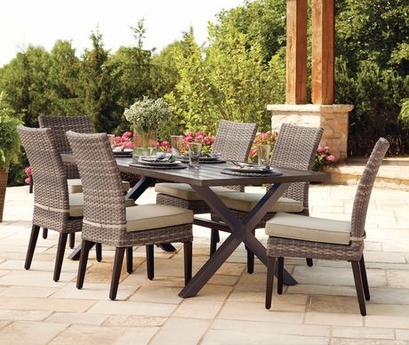 Hometrends Monaco 7 Piece Dining Set | Walmart Canada Throughout Monaco Dining Tables (Image 10 of 25)
