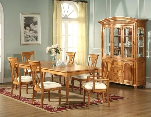 Honey Oak Dining Room Chairs Light Oak Dining Table And Chairs Go To Throughout Light Oak Dining Tables And Chairs (Image 10 of 25)