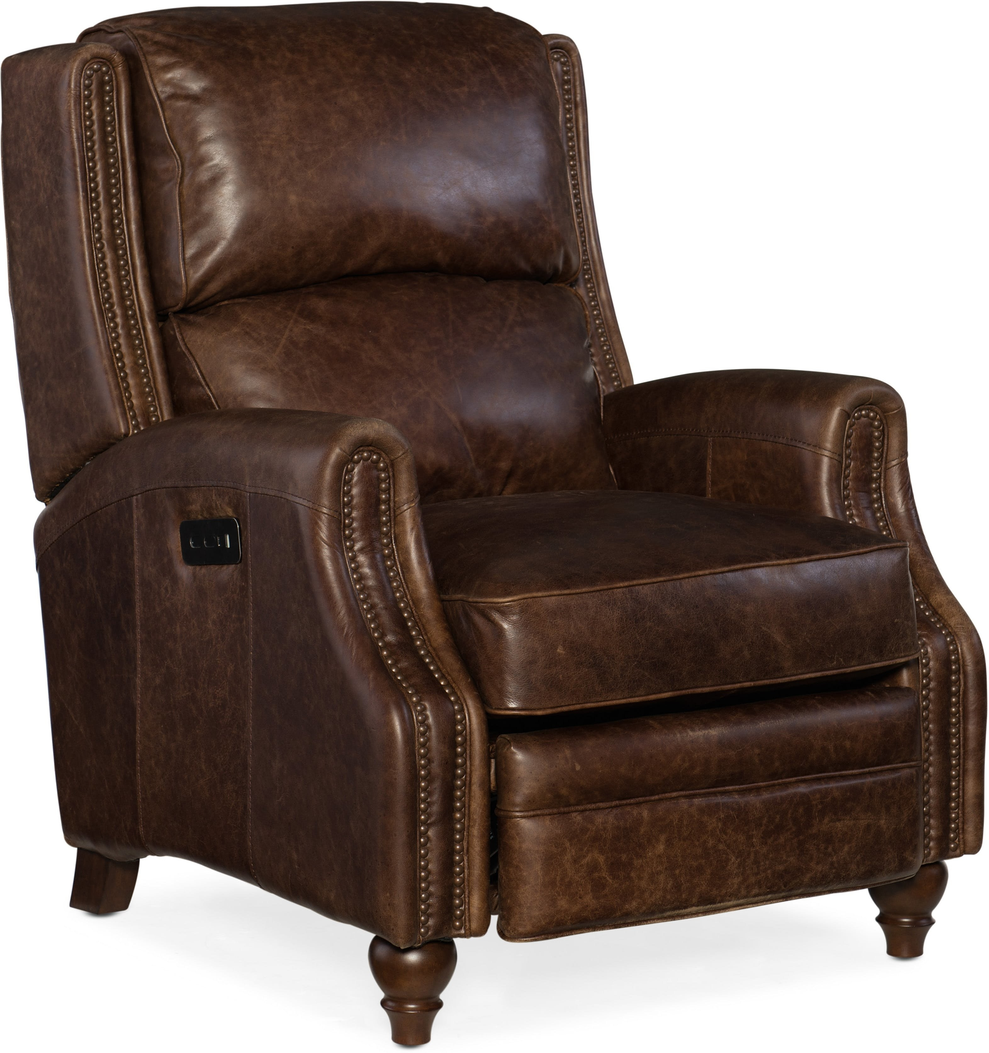 Hooker Furniture Brio Leather Power Recliner | Wayfair With Regard To Clyde Grey Leather 3 Piece Power Reclining Sectionals With Pwr Hdrst & Usb (Image 15 of 25)