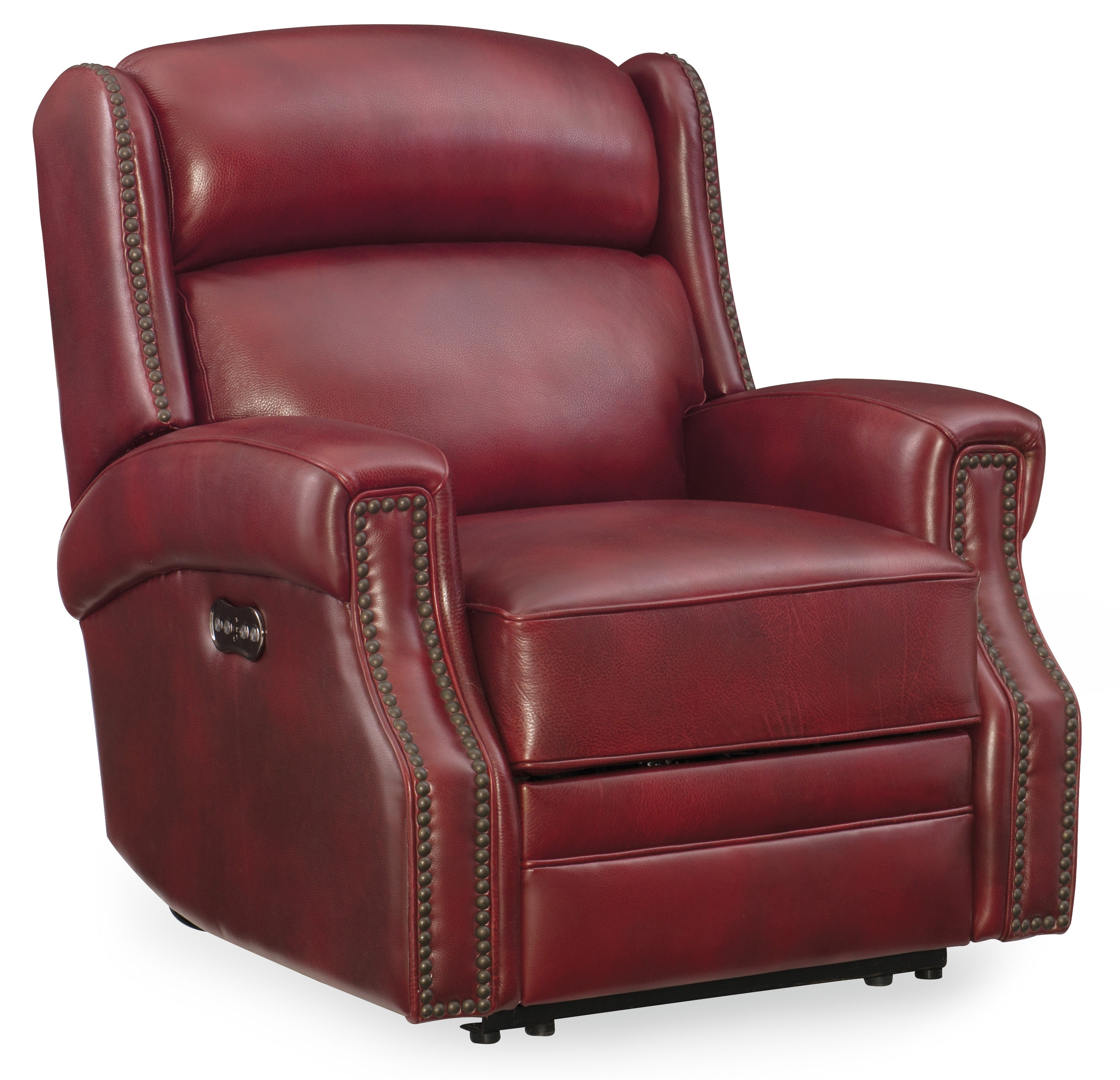 Hooker Furniture Carlisle Leather Power Recliner With Power Headrest For Clyde Grey Leather 3 Piece Power Reclining Sectionals With Pwr Hdrst & Usb (Image 16 of 25)