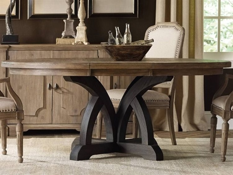 Hooker Furniture Corsica Dark & Light Wood 54'' Wide Round Dining Pertaining To Dark Dining Tables (Image 17 of 25)