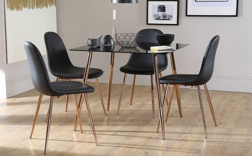 Horizon Square Black Glass Dining Table | Living Room | Pinterest in Square Black Glass Dining Tables