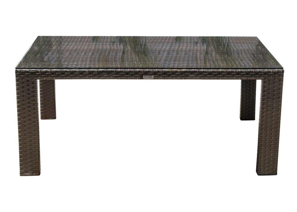 Hospitality Rattan Fiji Rectangular Wicker Dining Table – Wicker With Regard To Rattan Dining Tables (Image 10 of 25)