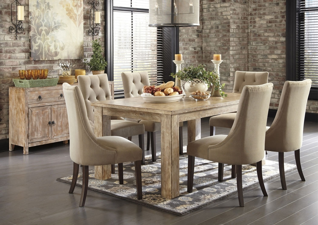 Hot Buys Furniture | Snellville, Ga Mestler Washed Brown Rectangular Intended For Rectangular Dining Tables Sets (Image 18 of 25)