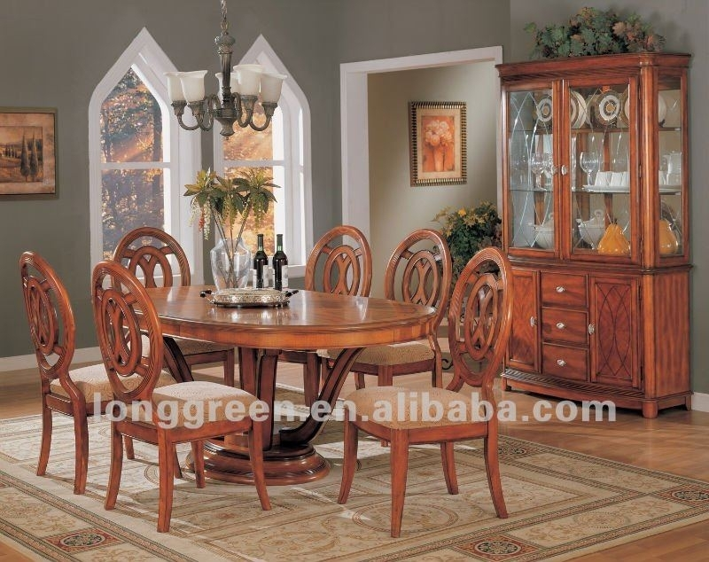 Hot Sale Oval Solid Wood Dining Table – Buy Oval Solid Wood Dining For Oval Dining Tables For Sale (Image 13 of 25)