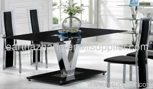 Hot Sell Black Glass Dining Table Xydt 252 Manufacturer From China Regarding Black Glass Dining Tables (Image 16 of 25)