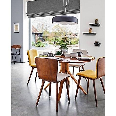 Housejohn Lewis Radar 6 Seater Round Dining Table, Walnut Regarding 6 Seater Round Dining Tables (View 13 of 25)