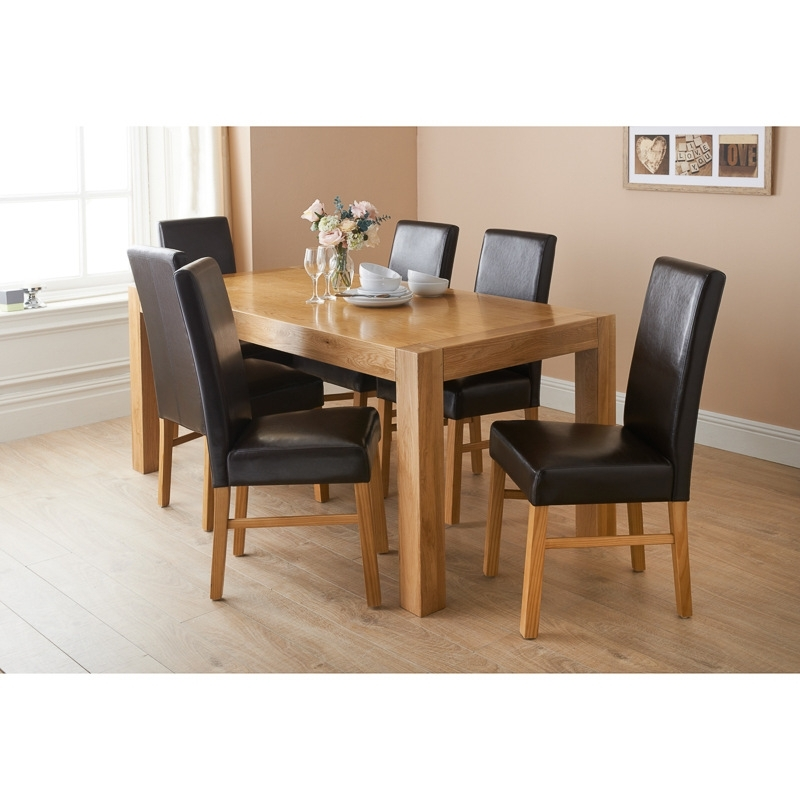 How And Why To Pick Oak Dining Table And Chairs – Blogbeen With Oak Dining Tables Sets (Image 10 of 25)