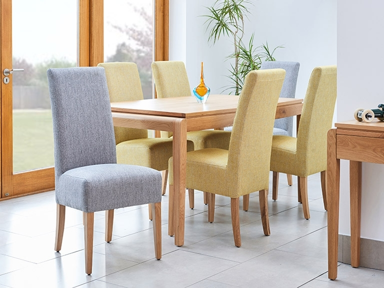 How To Clean Fabric Dining Chairs | The Chair People Regarding Fabric Dining Room Chairs (Image 11 of 25)