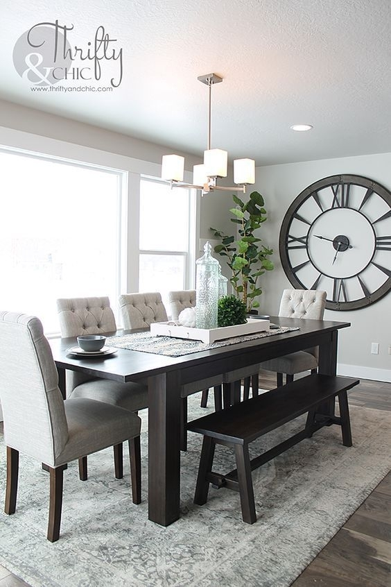How To Decorate With Large Clocks (And My Favourite Oversized Clocks Throughout Dining Room Tables (View 19 of 25)