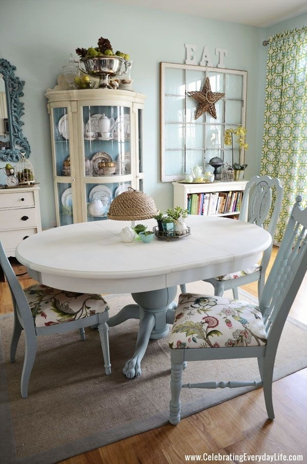 How To Save Tired Dining Room Chairs With Chalk Paint Right Now Inside Blue Dining Tables (View 5 of 25)