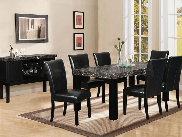 How To Select Black Dining Table And Chairs – Blogbeen Within Black Wood Dining Tables Sets (Image 19 of 25)