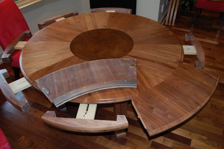 How To Select Large Round Dining Table: Expanding Round Dining Table Regarding Extendable Round Dining Tables (Image 16 of 25)