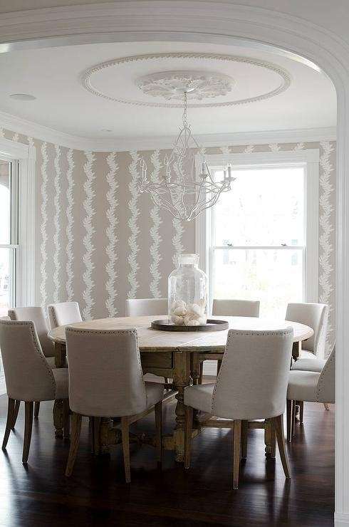 How To Select Large Round Dining Table – Home Decor Ideas Intended For Huge Round Dining Tables (Image 12 of 25)