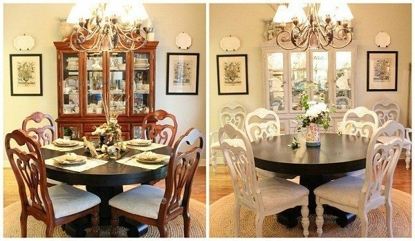 How To Spray Paint Dining Chairs | Refresh Restyle Inside Ivory Painted Dining Tables (View 24 of 25)