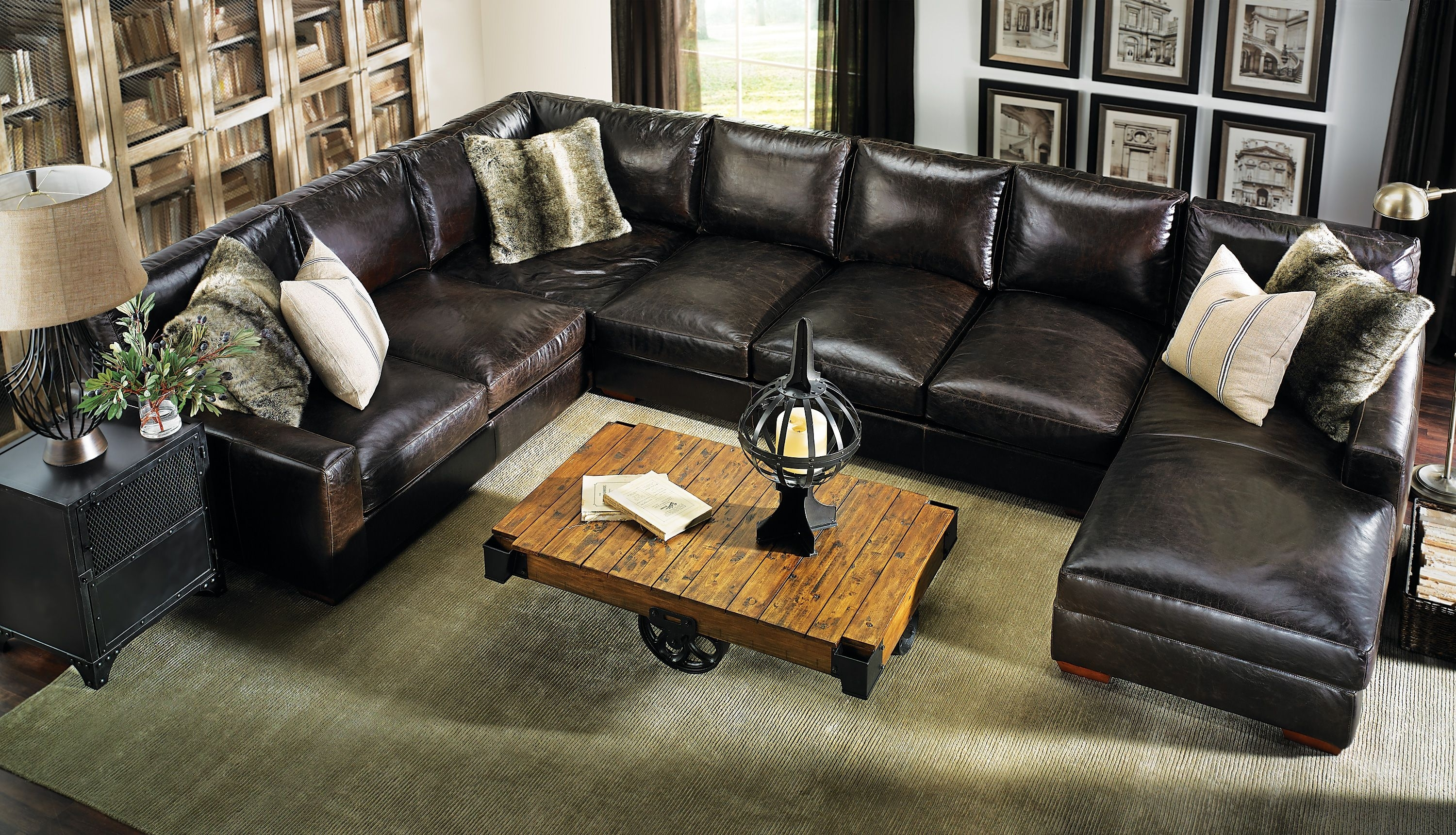 Howard Sectional Sofa #leather #everyonewillfit | Haynes: Living Intended For Marcus Oyster 6 Piece Sectionals With Power Headrest And Usb (Image 7 of 25)