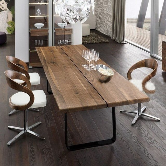However Excellent Home American Country Wood Dining Table Vintage Throughout Iron And Wood Dining Tables (Image 12 of 25)