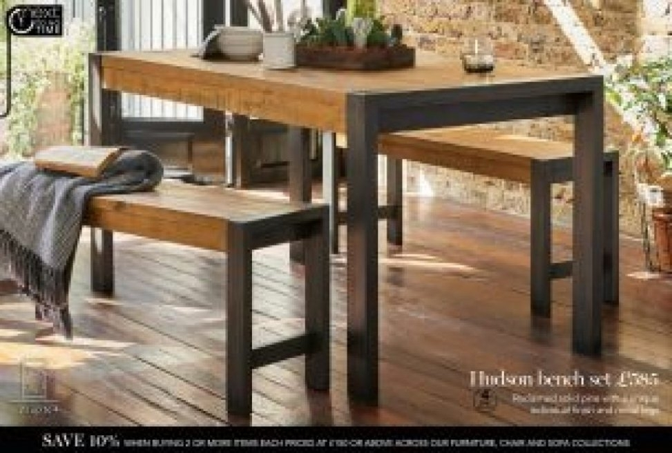 Hudson Dining Table And Bench Set | Beltran Side Chair | El Dorado Within Next Hudson Dining Tables (Image 12 of 25)