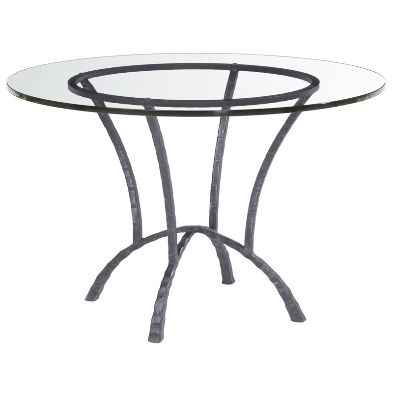 Hudson Glass Round Dining Table For Hudson Round Dining Tables (Image 4 of 25)