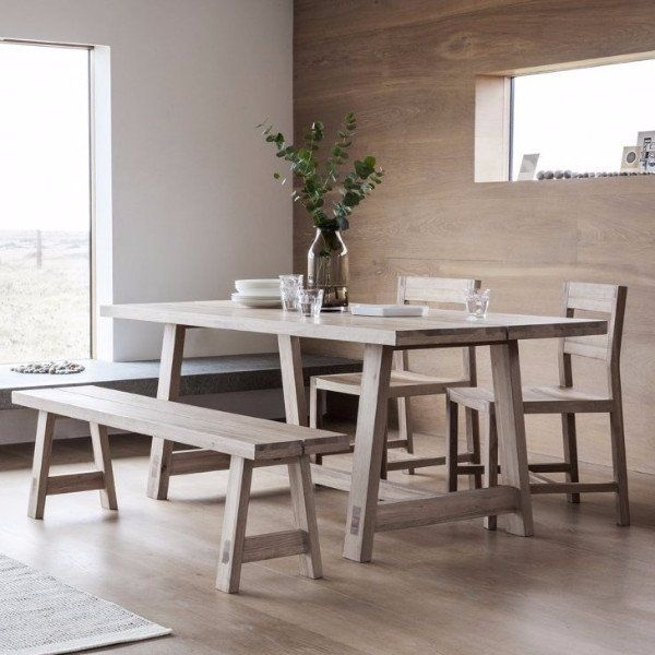Hudson Living Kielder Oak Dining Table | Home | Pinterest | Oak Throughout Light Oak Dining Tables And Chairs (View 18 of 25)