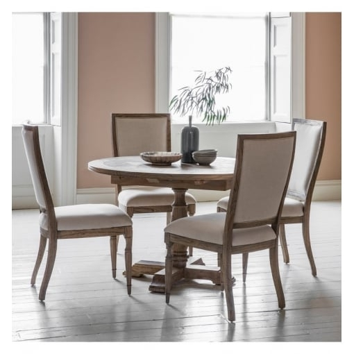 Hudson Living Mustique Round Extending Dining Table W1650 X D1200 X pertaining to Hudson Round Dining Tables
