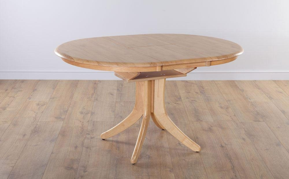 Hudson Round Extending Oak Dining Room Table Furniture | Ebay For Hudson Round Dining Tables (Image 14 of 25)