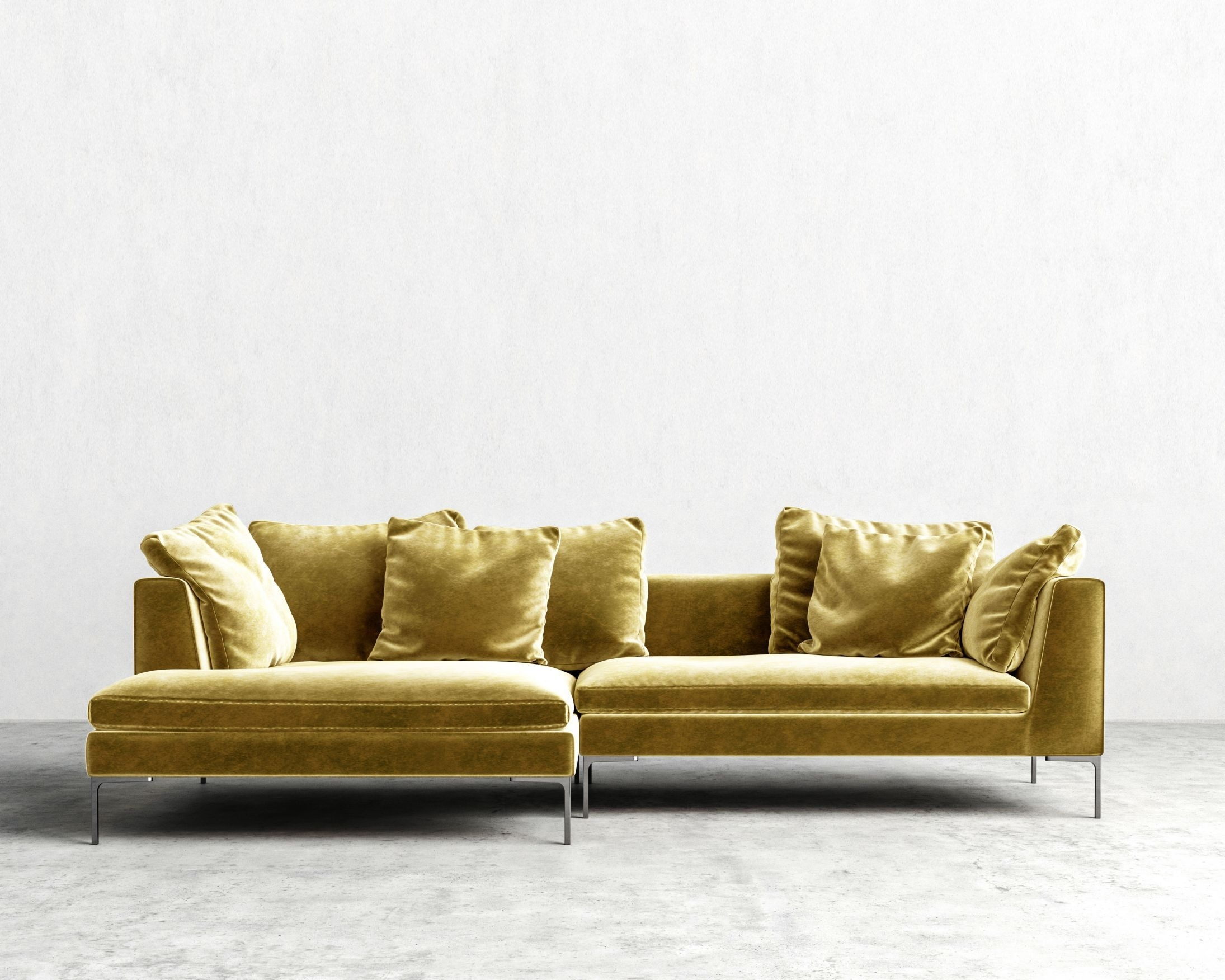 Hugo Sectional – Golden Beryl – Left Hand Facing | Family Room For Nico Grey Sectionals With Left Facing Storage Chaise (Image 10 of 25)
