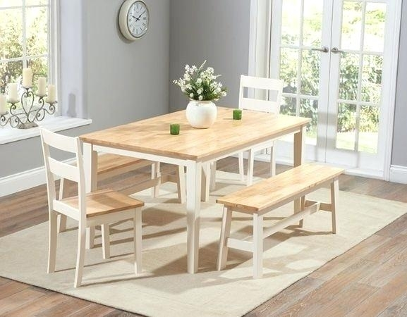 Hygena Square Solid Wood Dining Table 4 Chairs Oak Limed And Tables Intended For Cream And Wood Dining Tables (Image 13 of 25)