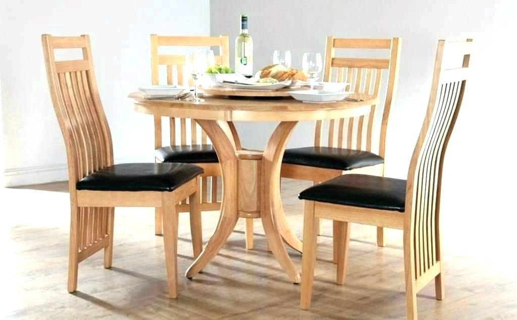Hygena Square Solid Wood Dining Table 4 Chairs Oak Limed And Tables Pertaining To Small Round Dining Table With 4 Chairs (Image 7 of 25)