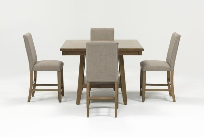 Hyland 5 Piece Counter Set With Stools | Living Spaces intended for Hyland 5 Piece Counter Sets With Stools