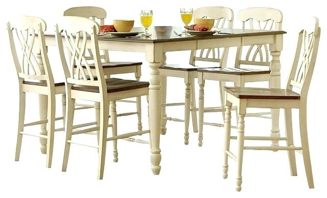 Hyland Counter Height Dining Room Table – Ocane Regarding Hyland 5 Piece Counter Sets With Stools (Image 17 of 25)