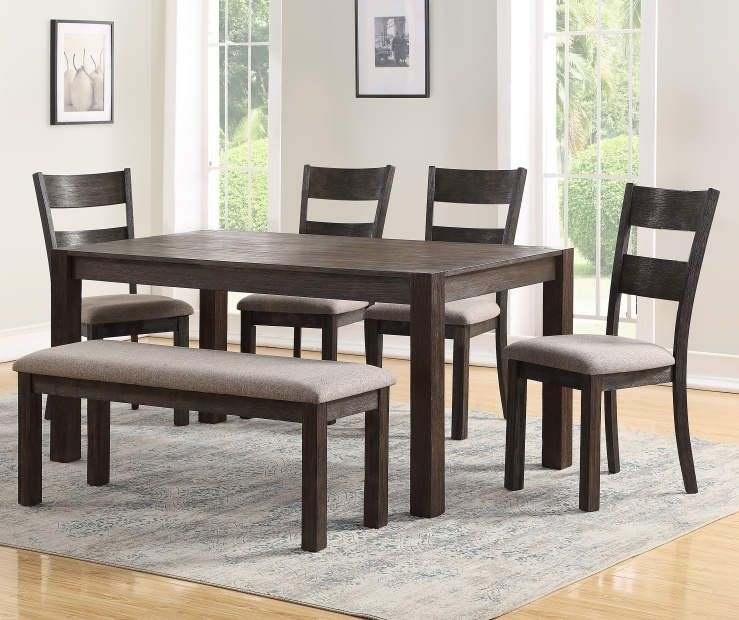 I Found A Stratford Hayden 6 Piece Dining Set With Bench At Big Lots Throughout Lassen 5 Piece Round Dining Sets (Image 18 of 25)