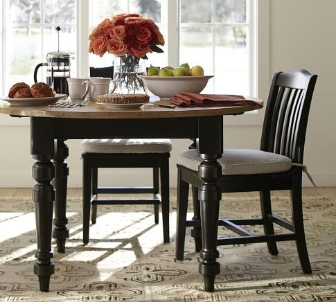 I Love This Two Toned Dinning Table –Keaton Round Fixed Dining In Artisanal Dining Tables (Image 15 of 25)