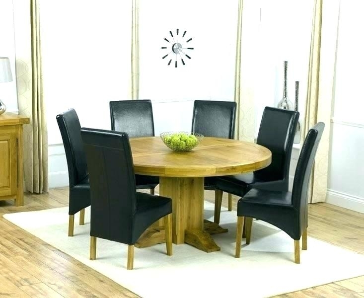 Ikea Dining Table And 6 Chairs Round Dining Table For 6 Dining Room Pertaining To Extendable Dining Tables 6 Chairs (Image 17 of 25)