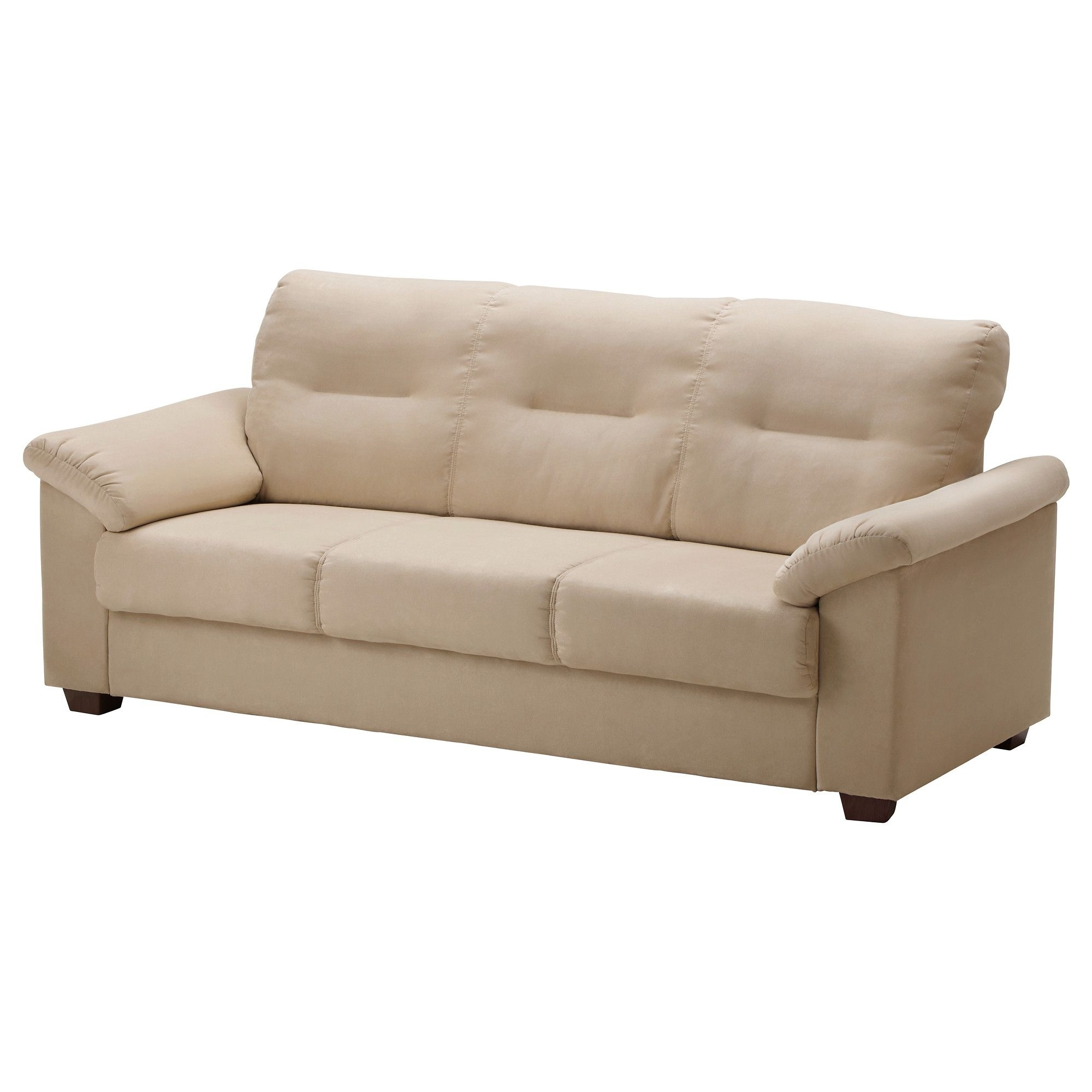 Ikea – Knislinge, Sofa, Kungsvik Sand, , The High Back Provides Good Within Taron 3 Piece Power Reclining Sectionals With Left Facing Console Loveseat (View 8 of 25)