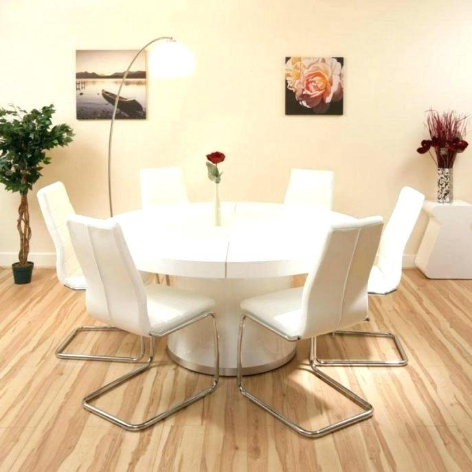 Ikea Round Dining Table Round Dining Table White Round Dining Table Within White Circle Dining Tables (Image 10 of 25)
