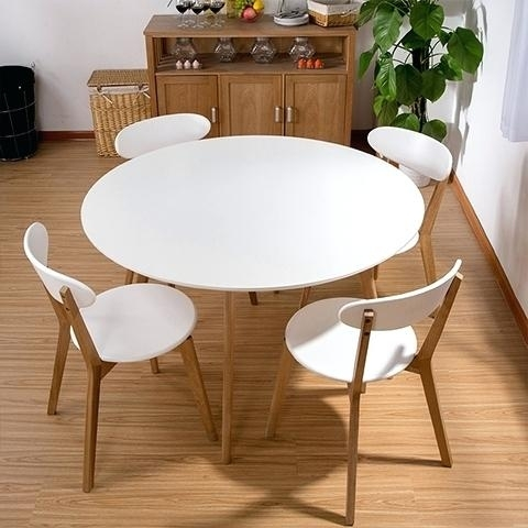 Ikea Round Dining Tables White Dinner Table White Dinner Table Cozy Inside Ikea Round Dining Tables Set (Image 17 of 25)