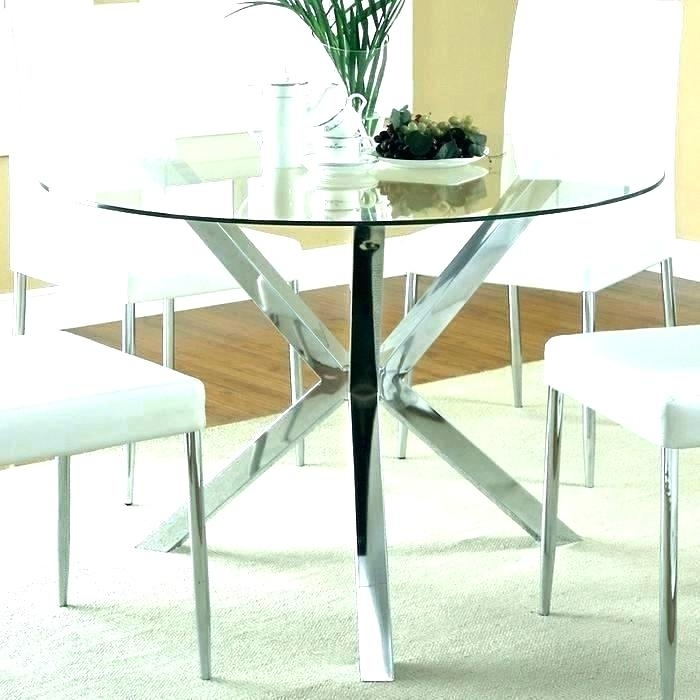 Ikea Round Glass Table Round Dining Table Glass Top Dining Table With Ikea Round Glass Top Dining Tables (Image 19 of 25)