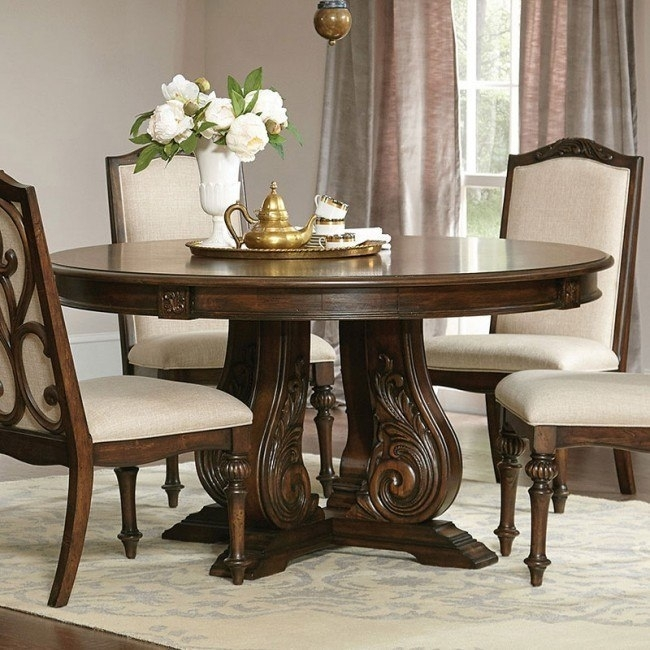 Ilana Round Dining Table (Antique Java) – Dining Room And Kitchen Throughout Java Dining Tables (Image 6 of 25)
