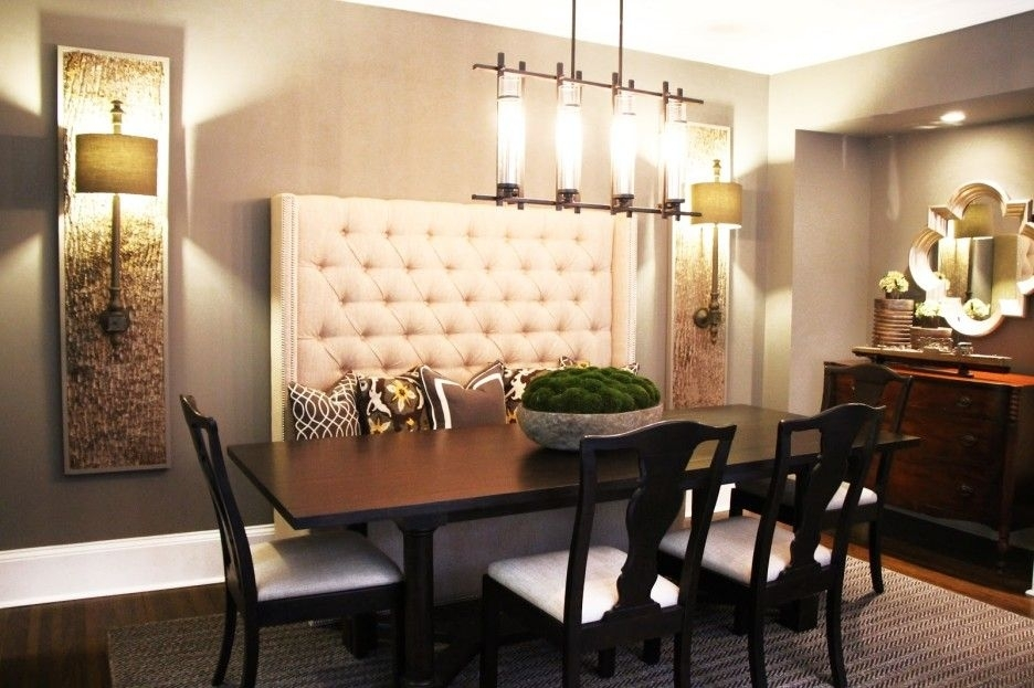 Image Result For High Back Bench Seat Dining | Kitchen Nook In Dining Tables Bench Seat With Back (Image 23 of 25)