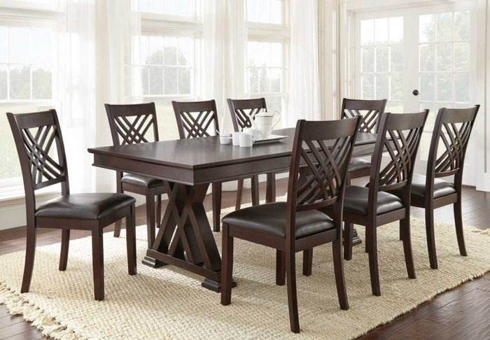 Imágenes De 9 Piece Dining Room Sets Cheap Within Chapleau Ii 9 Piece Extension Dining Tables With Side Chairs (Image 16 of 25)