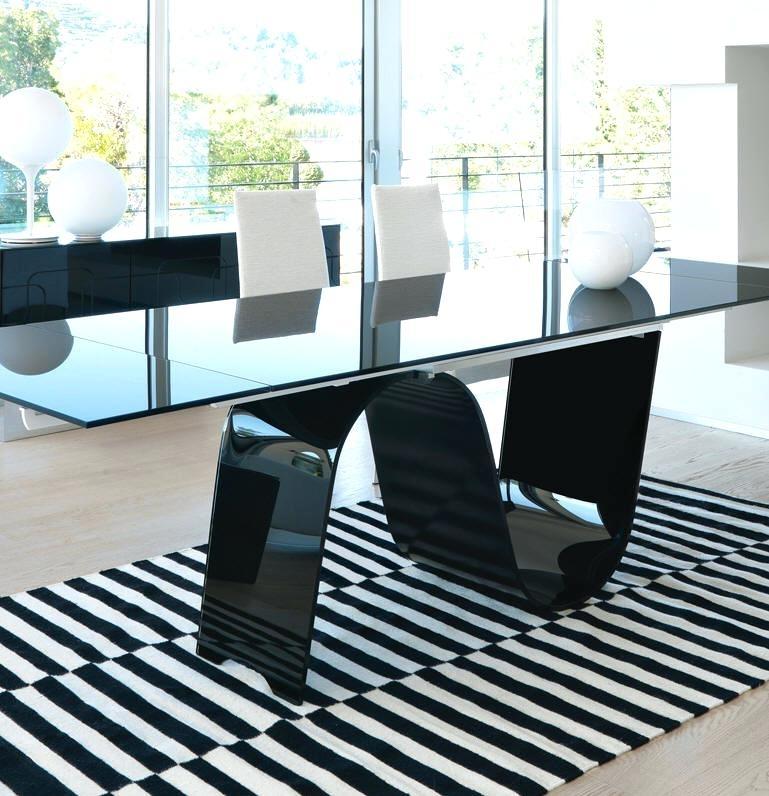 Imágenes De Black Glass Extending Dining Table 6 Chairs For Extending Black Dining Tables (Image 12 of 25)