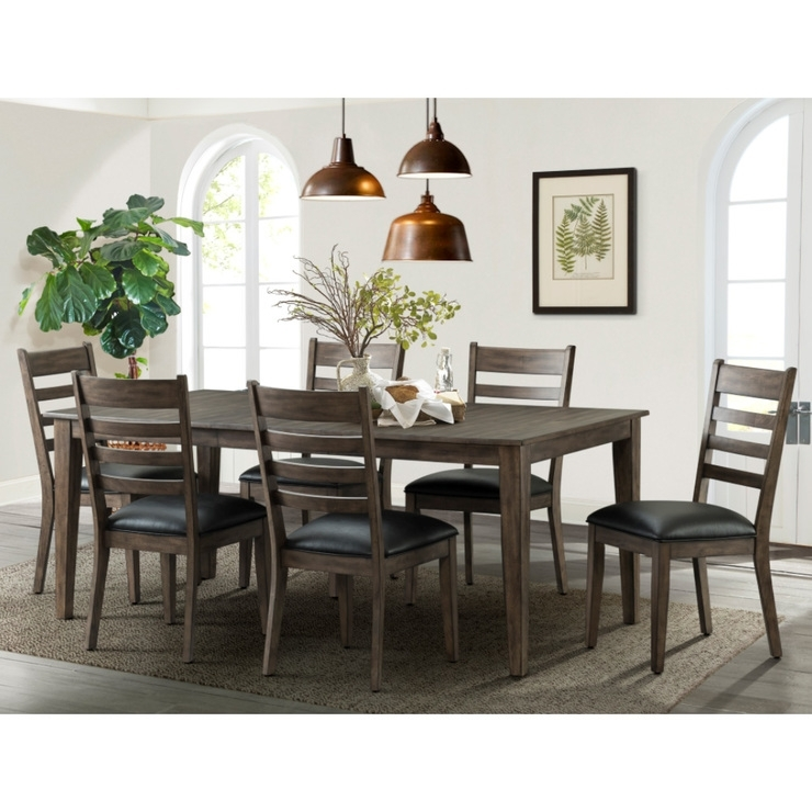 Imagio Home Solid Wood Extending Dining Room Table + 6 Chairs With Regard To Extending Dining Room Tables And Chairs (Image 14 of 25)