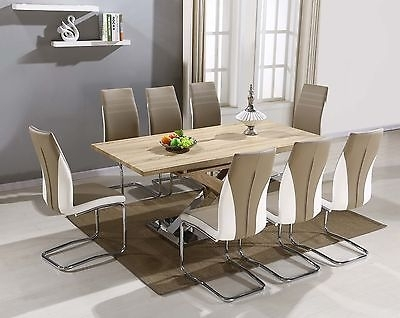 Imperial Dining Table With 6/8 Tan Luxury Chairs – £ (View 23 of 25)